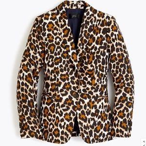J.Crew Parke blazer in leopard-print linen TENCEL